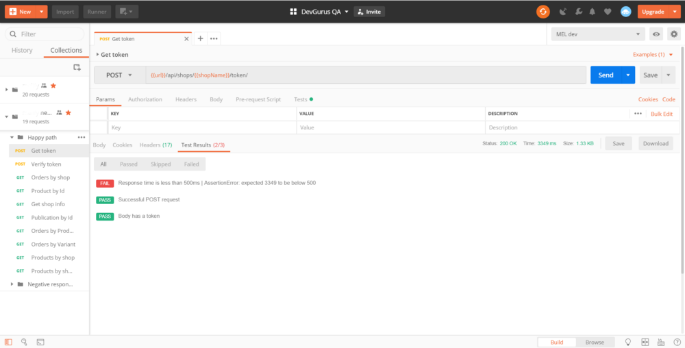 API testing with Postman and Newman